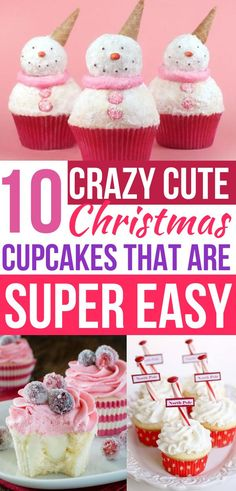 10 Best Christmas Cupcakes Bursting With Holiday Flavor How cute are these Christmas cupcakes? Best of all these Christmas cupcake recipes are so EASY! Now I have some fun Christmas desserts to bring to my holiday party! Such cute cupcake decoration i Christmas Cupcakes Decoration, Holiday Cupcakes, Fun Cupcakes, Holiday Cookies, Holiday Treats, Christmas Treats, Cupcake Decorations, Christmas Cakes, Best Christmas Desserts