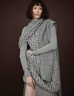 Cozy chic in Harper's Bazaar Korea with Ralph Lauren Collection