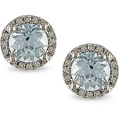 @Overstock - These white-gold diamond earrings are real showstoppers. Gleaming aquamarines are surrounded by a circle of round bead-set diamonds. Set in durable 10-carat gold, the earrings will make a great gift for yourself or a special someone.http://www.overstock.com/Jewelry-Watches/Miadora-10k-White-Gold-Aquamarine-and-Diamond-Earrings-H-I-I2-I3/4834789/product.html?CID=214117 $153.99