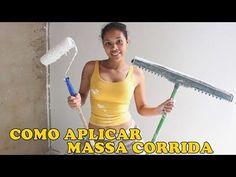 Como passar massa corrida fácil com Rodo e Rolo - How to skim coat a wall fast using paint roller - YouTube