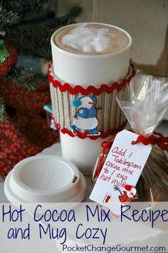 DIY Mug Cozy DIY Hot Cocoa Mix and Mug Cozy DIY Mug Cozy