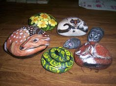 Rock Painting Instructions | These are some of the paintings I did on rocks. I purchased a book ...