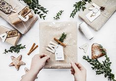 5 ways to wrap christmas presents with kraft paper | Kayla's Five things | kraft paper | wrapping presents