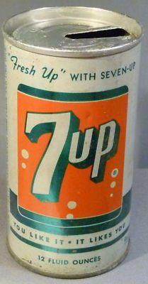 Vintage 7up can design