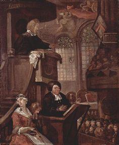 The Sleeping Church, 1728-1729, by William Hogarth (English, 1697-1764)