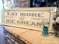 Vintage Soda Shop Ice Cream Sign
