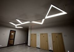 MFL Product Feature: Triangle LED Pendant System Triangles, Diffuser, Led, Lighting, Accra, Inspiration, Chandeliers, Ceiling, Shelves