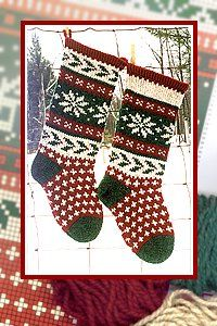 free knitting patterns, yarns and knitting supplies - Annie's Woolens Holly Stocking Kit