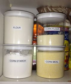 Just love to organize! Plastic container from local Dollar Store and a labeler