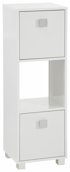 Hochschrank Senna III - Kiefer massiv - Weiß\/Havanna, Maison - badezimmer hochschrank 60 breit