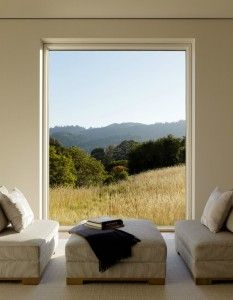 Living room with a view of nature - Biophilic Design