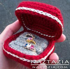 Crochet Ring Box Holder