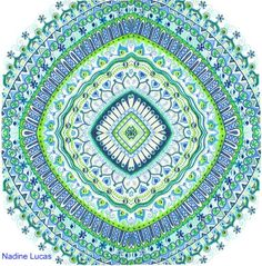 https://flic.kr/p/9mRQWK | Blue green | I took my previous 1/4 mandala and copied it to make a whole: www.flickr.com/photos/n_lucas/5090740931/in/set-721576244.... It took me a while to figure it out, but I like the result. I'd love to recreate this again, but whenever I try to plan and replicate a mandala, it never turns out right.