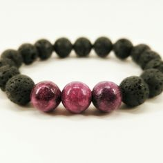 This one of a kind bracelet is made from Volcanic Rock! Very cute, very simple, and very boho. Get it for yourself or as a gift!