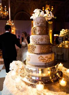 Gold Wedding Cake