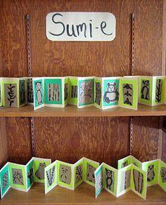 Sumi-e accordian books (Japanese)