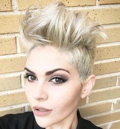Messy Blonde Undercut For Short Hair