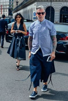 http://chicerman.com  billy-george:  Nick Wooster  Photo by Tommy Ton  #streetstyleformen