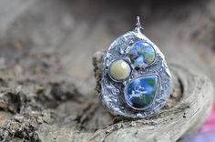 Great ceramic neclace / ceramic jewelry / handmade by zolanna