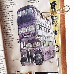 Flashback Friday to illustrations in my first journal insert missing the Wizarding World of Harry Potter!
