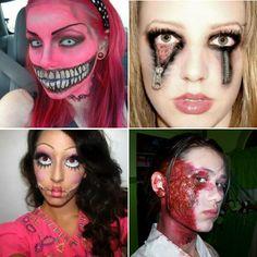 #Halloween: Creepiest #Makeup? #face #style #glam #beauty #beautyblogger #woman #spooky #living #rend #art #dark