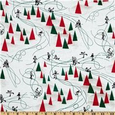 Tissu de coton imprimé motif Noël    Designer : Dear Stella     Collection : You've Been Jingled