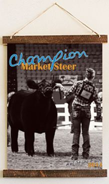 Looking for unique #livestockshow #award ideas? Check out this #championbanner by #RuralRouteCreations! #stockshowlife