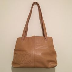 Authentic Chanel bag Very nice Authentic Vintage Chanel bag it has some flaws it's from the early 80's -90's still a lot of life see pics of flaws!!! CHANEL Bags Shoulder Bags