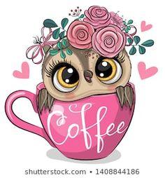 Cartoon owl is sitting in a Cup of coffee. Cute Cartoon owl is sitting in a Cup of coffee royalty free illustration Cartoon Owl Drawing, Cute Cartoon, Cute Owl Drawing, Cartoon Owls, Animal Drawings, Cute Drawings, Owl Drawings, Owl Png, Owl Wallpaper