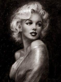 Pintura al oleo de la sensual Marilyn Monroe!!! De Theo Danella