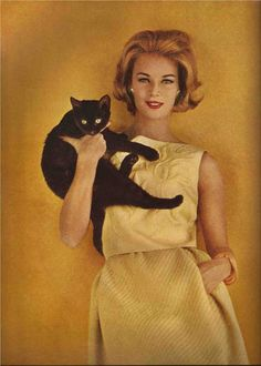 Black cat leaning.