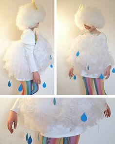 Wolkenkostüm / Karneval / Wolke / Kostüm / DIY / Mädchenkostüm / was eigenes Blog & Shop