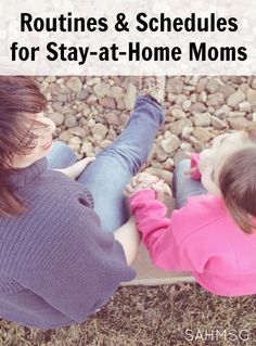 Routines and Schedules for stay-at-home moms-or any mom! Printable schedules and suggestions will help your family find balance at home. Mom Schedule, Toddler Schedule, Stay At Home Mom, Work From Home Moms, Parenting Advice, Kids And Parenting, Parents, Family Organizer, Travel With Kids
