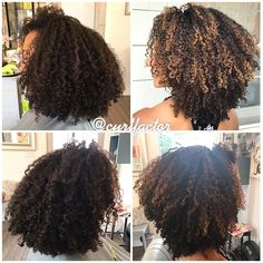 Latest balayage highlights on dark hair. Dyed Curly Hair, Dyed Natural Hair, Colored Curly Hair, Pelo Natural, Black Curly Hair, Curly Hair Styles, Natural Hair Highlights, Balayage Highlights, Caramel Balayage