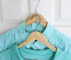 Hooked together with a can tab, two hangers eat up way less closet space.