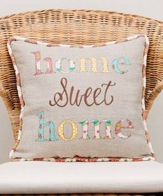 Look at this #zulilyfind! Gray 'Home Sweet Home' Throw Pillow #zulilyfinds