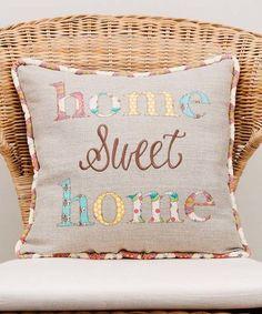 Look at this #zulilyfind! Gray 'Home Sweet Home' Throw Pillow #zulilyfinds