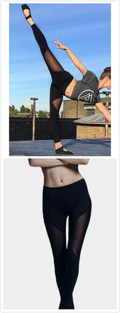 Surely, exercise is what we should do in our daily. Bodycon leggings may be your best choice. With mesh details and you can pair it with a crop top to make a chic gym look.