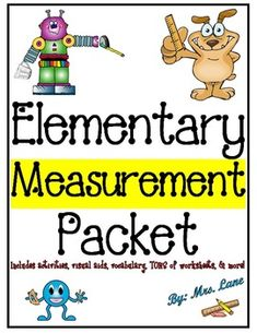 *BEST SELLER!**TPT TOP 100 PRODUCT!*This packet contains TONS of fabulous items to teach measurement to elementary students, from activities and games, lesson plans and science experiments, to printable worksheets, handouts, and posters. These wonderful resources will improve your teaching skills by helping you understand how the topic of measurement can be approached and be taught for your students' maximum absorption and retention.
