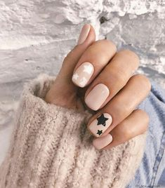 Star Nail Designs Pictures white and black star nails Star Nail Designs. Here is Star Nail Designs Pictures for you. Star Nail Designs white and black star nails. Spring Nails, Winter Nails, Nude Nails, Acrylic Nails, Star Nail Designs, Nail Polish, Nail Nail, Nail Glue, Pink Nail