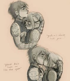 """riverrockets: """"I almost lost you"""" kiss """" Oh my heart I love this < Hiccstrid. Httyd Dragons, Dreamworks Dragons, Disney And Dreamworks, Hiccup And Toothless, Hiccup And Astrid, Hicks Und Astrid, Dragon Rider, Dragon Art, How To Train Your Dragon"""
