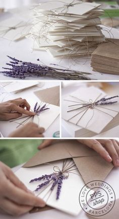 Add fresh lavender to your invitations.