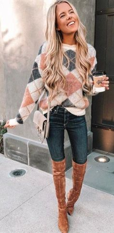 50 Fabulous Fall Outfits to Wear Now Vol. 2 - Saléa Helissey - - 50 Fabulous Fall Outfits to Wear Now Vol. 2 50 Fabulous Fall Outfits to Wear Now Vol. Glamouröse Outfits, Neue Outfits, Latest Outfits, Casual Outfits, Fashion Outfits, Cozy Outfits, Fashion Shoes, Fashion Clothes, Sweater Outfits