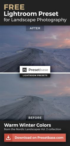 Download this FREE Adobe Lightroom Preset to enhance your Winter Landscapes.