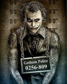 The Joker, Gotham City Police mugshot by Marcus Jones Joker Batman, Heath Ledger Joker, Joker Art, Der Joker, Joker Und Harley Quinn, Joker Poster, Joker Images, Joker Pics, Fotos Do Joker