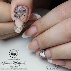 Nail Shapes - My Cool Nail Designs Nail Art Designs, Deer Nails, Nail Logo, Long Round Nails, Vintage Nails, Oval Nails, Girls Nails, Hot Nails, Cool Nail Art