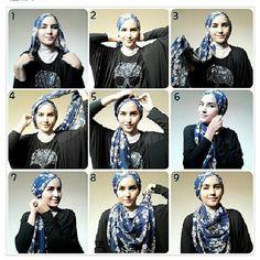 simple hijab tutorial by zahratuljannah