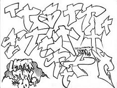 Graffiti Letter Study T