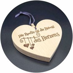 """Holz Herz Zirbe """"Family is all we need ."""" Category: Family, Holz Herz Zirbe """"Family is all we need …"""" Category: Family, # Hair Salon Interior, Best Butter, Wooden Coasters, Wooden Hearts, Look In The Mirror, Muted Colors, Skin Treatments, Family Quotes, Plexus Products"""