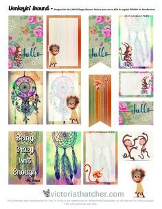 Free Printable Monkeyin' Around Planner Stickers from Victoria Thatcher